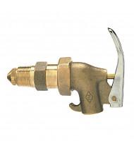 "Wesco 272037 0.75"" NPT Adjustable Shank Heavy Duty Brass Drum Faucet"