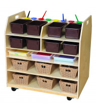 Wood Designs Trolley Art Cart with Brown Trays (Shown in Front)