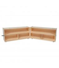 "Wood Designs Classroom Mobile 6-Space Storage, Folding, Birch, 15"" D x 98"" W"