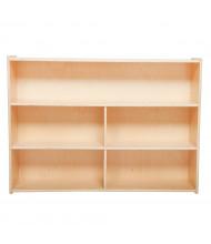 "Wood Designs School Classroom Storage Unit, Birch, 38"" H x 48"" W x 15"" D"
