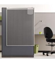 Quartet 3' x 4' Partial Length Sliding Workstation Privacy Screen