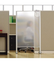 Quartet 3' x 5.5' Full Length Rolling Workstation Privacy Screen