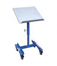 """Vestil 150 lb Load 22"""" x 21"""" Platform Mobile Tilting Work Table"""
