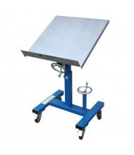 """Vestil 300 lb Load 24"""" x 24"""" Mobile Tilting Work Table"""