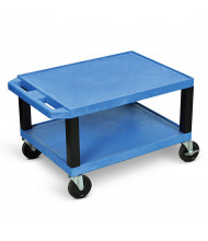 "Luxor 2-Shelf 16"" H Tuffy AV Cart (Shown in Blue/Black)"