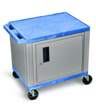 "Luxor 26"" H Tuffy Cabinet AV Cart (Shown in Blue/Nickle Grey)"