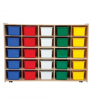 Wood Designs Contender Mobile 25 Tray Storage Unit with Trays (Shown with Assorted Trays)