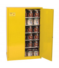 Eagle YPI-47 Manual Two Door Combustibles Safety Cabinet, 60 Gallons, Yellow (Example of Use)