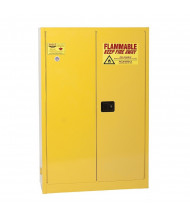 Eagle YPI-45 Sliding Self Close Two Door Combustibles Safety Cabinet, 60 Gallons, Yellow