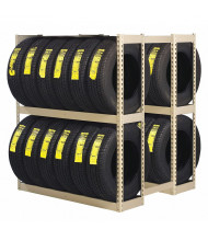 "Tennsco 42"" D x 60"" W Double Entry Tire Rack Open-Back Shelving Units"