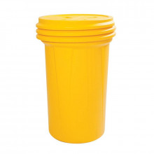Eagle 1657 Lab Pack Screw Lid Poly Drum, 55 Gallons, Yellow