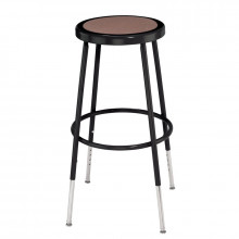 """NPS 25"""" - 33"""" Height Adjustable Science Lab Stool (Shown in Black)"""