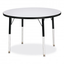 """Jonti-Craft Berries 36"""" D Elementary Round Classroom Activity Table (Shown in Grey / Black)"""
