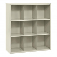 Sandusky 9-Section Cubby Classroom Storage (Shown in Putty)