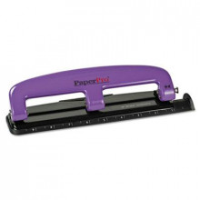 PaperPro 12-Sheet Compact 3-Hole Punch, Purple