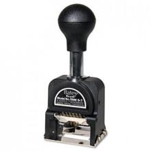 Bates 6-Wheel Pre-Inked/Re-Inkable Royall Economy Numbering Machine, Black