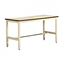 Tennsco Standard Top Technical Workstations with Adjustable Legs (Shown in Sand)
