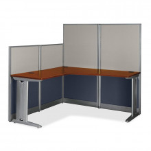 """Bush Office-in-an-Hour WC36494 65"""" W L-Shaped Workstation"""