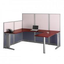 "Bush Office-in-an-Hour WC36496 89"" W U-Shaped Workstation"