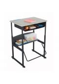 "Safco AlphaBetter 28"" x 20"" Height Adjustable Standing Book Box Student Desk"