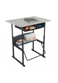 "Safco AlphaBetter 36"" x 24"" Height Adjustable Standing Book Box Student Desk"
