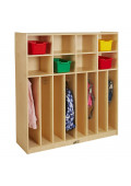 "ECR4Kids Birch 48"" W 8-Section Streamline Coat Locker"