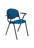 """KFI Seating T-Arm Polypropylene Stacking Chair, 31"""" H x 22.5"""" W"""