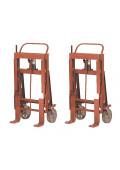 Wesco Rais-N-Rol 8000 lb Load Machinery Movers, Steel Wheels