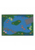 Carpets for Kids Tranquil Pond Rectangle Classroom Rug