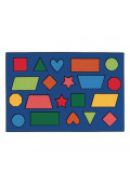 Carpets for Kids Color Shapes Rectangle Classroom Rug