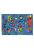 Carpets for Kids Reading Robots Alphabet Rectangle Classroom Rug
