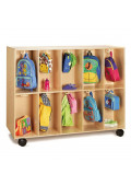 Jonti-Craft 20-Section Mobile Backpack Cubbie