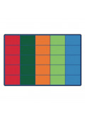 Carpets for Kids Colorful Rows Seating Rectangle Classroom Rug