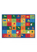 Carpets for Kids Learning Blocks Alphabet & Numbers Classroom Rug