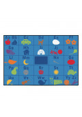 Carpets for Kids Alphabet Seating Rectangle Classroom Rug
