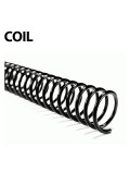 "Akiles 36"" Length Plastic Spiral Coil Bindings 4:1 Pitch (100 pcs), Black"