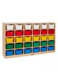 ECR4Kids 30 Cubbie Tray Classroom Storage Unit with Bins