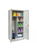 """Hallowell 78"""" H Antimicrobial Ventilated Combination Storage Cabinets, Light Grey"""