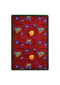 Joy Carpets Bee Attitudes Rectangle Classroom Rug, Red