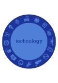 Joy Carpets STEM Classroom Rug, Technology