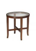 "Mayline Illusion M106R 22"" Dia. End Table, Bourbon Cherry"
