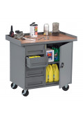 Tennsco Laminate Top Drawer and Cabinet Mobile Workbenches 1000 lbs Capacity