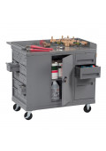 Tennsco Drawer and Cabinet Steel Mobile Workbenches 1000 lb Capacity