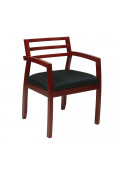Office Star Napa Wood-Back Fabric Wood Mid-Back Guest Chair