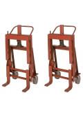 Wesco Rais-N-Rol 4000 lb Load Machinery Movers, Urethane Wheels