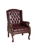 Office Star Work Smart Traditional Queen Anne Style Vinyl Wood Guest Chair