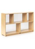 "Whitney Brothers 30"" H 5-Section Acrylic Back Classroom Storage Unit"