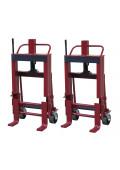 Wesco Rais-N-Rol 6000 lb Load Machinery Movers, Urethane Wheels, Pair