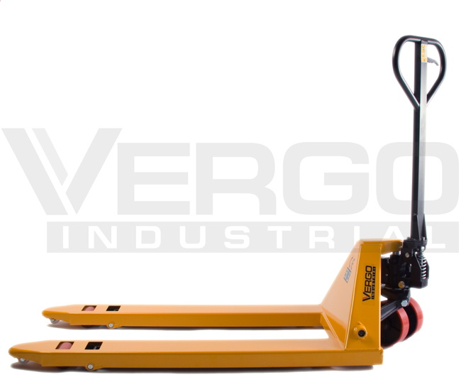 Vergo Industrial Pallet Jack Side View Lowered